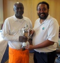 Winner of the Caricom Cup - Tony Sealey (left)