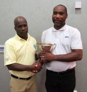 Winner - Carlton Donald (right)