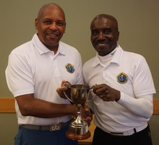 Winner Errol Murray (left)