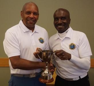 Winner Errol Murray (left)