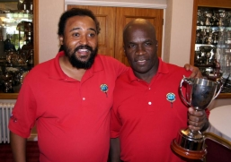 Winner of the Caricom Cup 2017 - Ian Higgins (right)