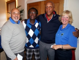 Texas Scramble Winners - (left to right) - Dave Smith, Keith Riley, Micky Taylor, Mary Riley