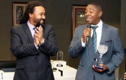 Order of Merit Winner Dave Brown (right)