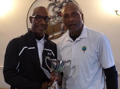 Winner of the Fix-Up Cup , Paul Ramsey (left)